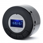 "1.0"" LCD Rechargeable MP3 Player Speaker w/ FM / TF / 3.5mm Audio Jack - Black"