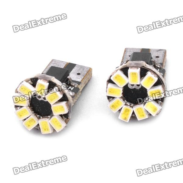 T10 0.5Wx9 1206-SMD LED 108LM White Light Car Door / Reading Lamp (DC 12V / Pair)