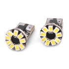T10 0.5Wx9 1206-SMD LED 108LM weißes Licht-Auto-Tür / Leselampe (dc 12v / pair)
