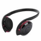 BH-503 Bluetooth Stereo Handsfree Headset - Black + Red (6-Hour Talk/80-Hour Standby)