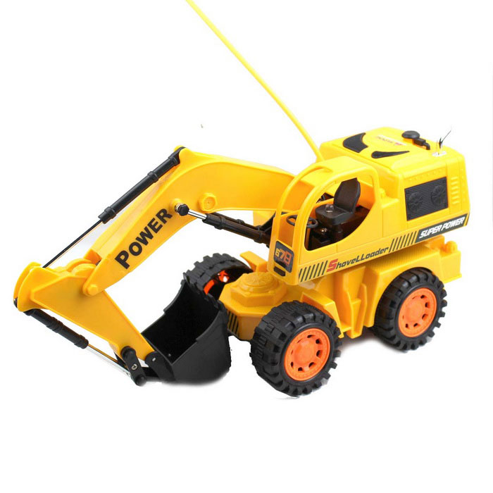 R/C Stunt Digger Excavator Model Toy (4xAA + 2xAA)Other R/C Toys<br>Model:Form  ColorYellowChannels Quanlity2,3,4,6FunctionLeft,Right,Forward,Backward,StopBattery TypeAARemote Controller Battery TypeAAPacking List<br>