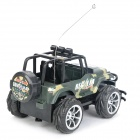 49MHz R/C Go-Anywhere Vehicle Car Toy with Remote Control - Army Green (3 x AA + 2 x AA)