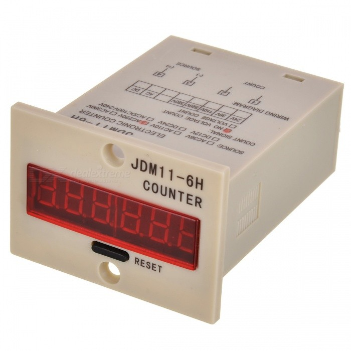 JDM11-6H Digital Cumulative Counter with 1.8