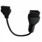 12 Pin Male to 16 Pin Female OBD II / OBD Diagnostic Adapter Cable for Renault (25cm)