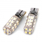 T10 0.5Wx28 1206-SMD LED 336LM White Light Car Door / Reading Lamp (DC 12V / Pair)