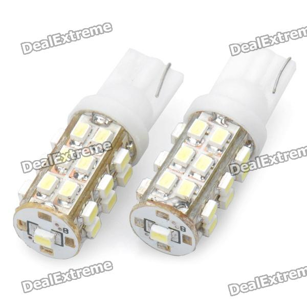 T10 12.5W 6500K 288-Lumen 25-1205 SMD LED White Light Car Dashboard Lamps (DC 12V / Pair) 20pcs t5 5050 1smd wedge dashboard led white red blue green yellow pink car auto light interior dashboard bulb side lamps dc 12v