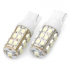 T10 12.5W 6500K 288-Lumen 25-1205 SMD LED White Light Car Dashboard Lamps (DC 12V / Pair)