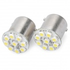 1156 4.5W 6500K 108-Lumen 9-1210 SMD LED White Light Car Braking Lamps (DC 12V / Pair)