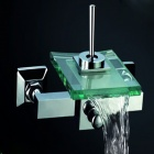 Contemporary Waterfall Chrome Tub Faucet