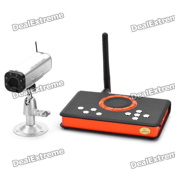 Mini 2.4GHz Wireless 4-CH 7-IR LED Night-Vision Camera Security Surveillance DVR System Set