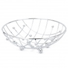 Stainless Steel Small Circular Steel Balls Decorated Fruit Basket - Silver