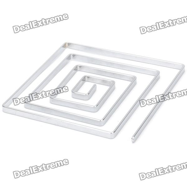 Stainless Steel Square Pot Holder Hot Pad Heat Insulation Pad - Silver rimei 3013 handy durable stainless steel nailclippers w grinding pad silver