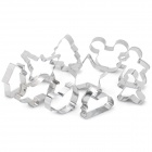 DIY Biscuit Cookie Cutters Moulds Set - Silver (10-Piece Pack)