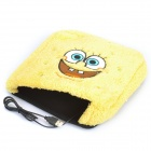 SpongeBob Image Pattern USB Plush Hand Warmer Mouse Pad Mat - Yellow