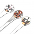 3-in-1 Classic Beijing Opera Facial Masks Stainless Steel Spoons Set