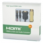 1080P HDMI to VGA & Audio Converter Cable (2M-Length)