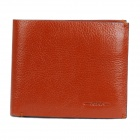 Fashion Folding Leather Wallet with Dual Compartment & 12 Card Holders - Brown