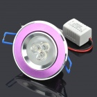 3W 6500K 260LM 3-LED White Light Ceiling Lamp (100~240V)