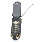 "F99 Car Shaped GSM TV Phone w/2.2"" LCD Dual SIM, Quadband and FM Radio - Black"