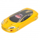 "F99 Car Shaped GSM TV Phone w/2.2"" LCD Dual SIM, Quadband and FM Radio - Yellow"
