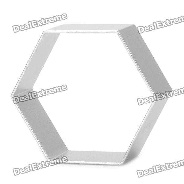 Aluminum Alloy Hexagon Shaped Cake / Cookie / Fruit / Vegetable Cutter Mold ds ct 107 aluminum alloy pipe cutter silver black