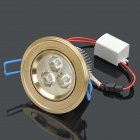 3W 6500K 200LM 3-LED White Light Ceiling Lamp (100~245V)