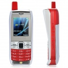 "Q500 Retro Style GSM Cell Phone w/ 1.8"" TFT LCD, Quadband, Dual SIM and FM - Red + Silver"