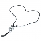 Elegant Hematite Necklace (74cm-Length)