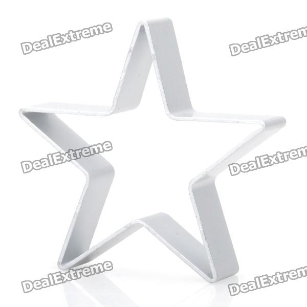 Cute Five-Pointed Star Shaped Aluminum Alloy DIY Biscuit Cookie Cutter Mould - Silver stainless steel abs diy cookie cutter silver