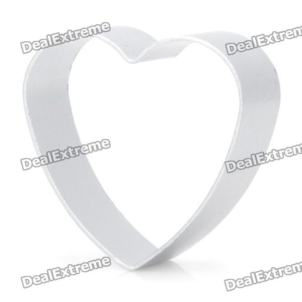Cute Heart Shaped Aluminum Alloy DIY Biscuit Cookie Cutter Mould - Silver square flexible cookie bread cutter mould set silver small size