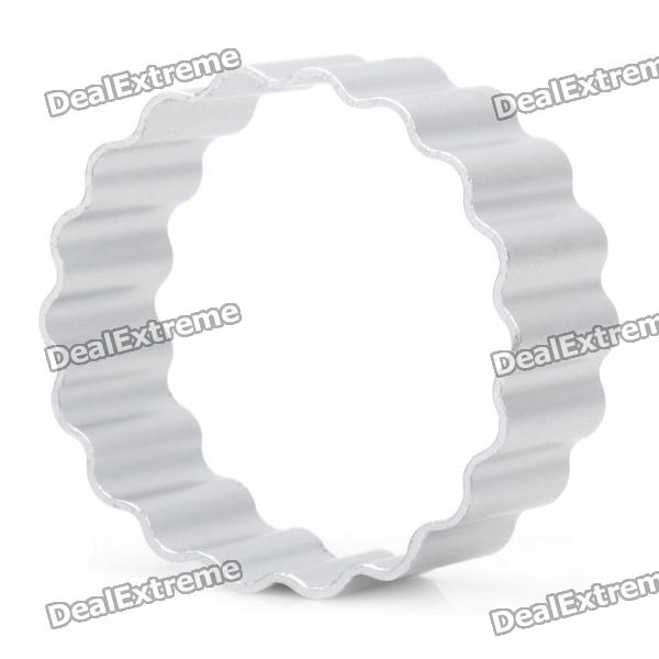 Cute Chrysanthemum Shaped Aluminum Alloy DIY Biscuit Cookie Cutter Mould - Silver stainless steel abs diy cookie cutter silver