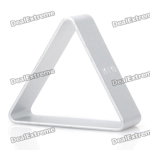 Cute Triangle Shaped Aluminum Alloy DIY Biscuit Cookie Cutter Mould - Silver square flexible cookie bread cutter mould set silver small size
