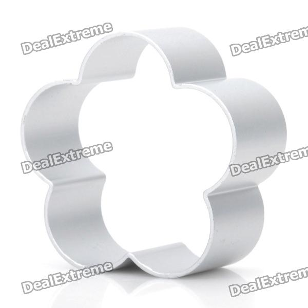Cute Plum Blossom Shaped Aluminum Alloy DIY Biscuit Cookie Cutter Mould - Silver stainless steel abs diy cookie cutter silver