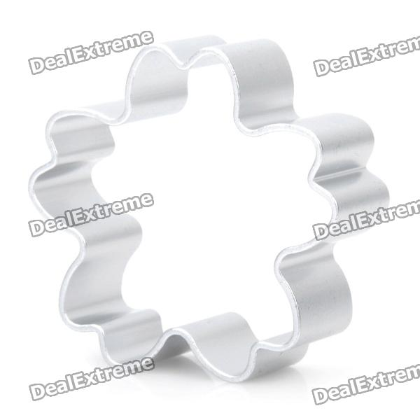 Cute Sakura Shaped Aluminum Alloy DIY Biscuit Cookie Cutter Mould - Silver stainless steel abs diy cookie cutter silver