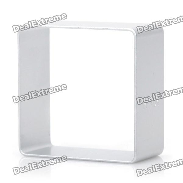 Cute Square Shaped Aluminum Alloy DIY Biscuit Cookie Cutter Mould - Silver stainless steel abs diy cookie cutter silver