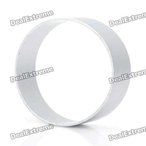 Cute Circle Shaped Aluminum Alloy DIY Biscuit Cookie Cutter Mould - Silver stainless steel abs diy cookie cutter silver