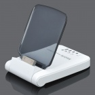 1800mA Power Battery Dock Station for iPhone 4 / 4S - White