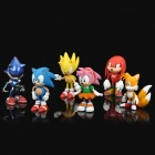 Cute Super Sonic Figure Display Toys (6-Piece Pack)