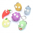 Plants vs Zombies Figure Keychains (6-Piece Pack)
