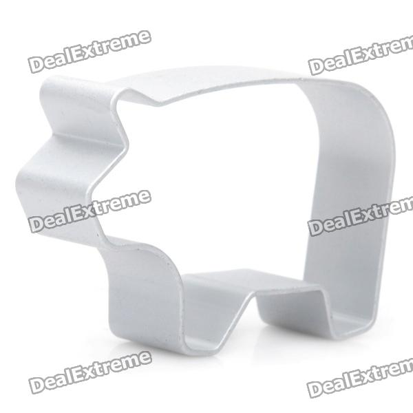 Cute Pig Shaped Aluminum Alloy DIY Biscuit Cookie Cutter Mould - Silver
