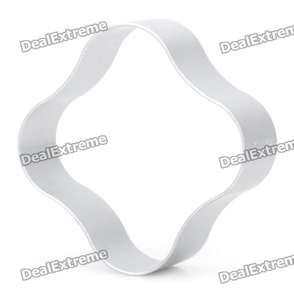 Cute Flower Shaped Aluminum Alloy DIY Biscuit Cookie Cutter Mould - Silver