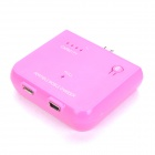 1500mAh Emergency Mobile Power Charger W / USB-Kabel für Samsung i9250 / i9220 / i9100 - Deep Pink