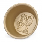Cute Tiger Shaped Aluminum Alloy Cake / Pudding / Jelly Cup Mould - Golden