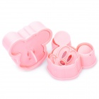 Cute Mickey Mouse Mickey and Minnie Style Biscuit Cookie DIY Cutter Moulds Set - Pink (2-Piece Pack)