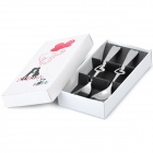 Compact Love Heart Shaped Stainless Steel Fork + Spoon Set - Silver