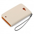 KALAIDENG Protective PU Leather Flip-Open Case for Samsung i9220 - Beige