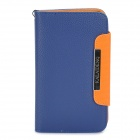 KALAIDENG Protective PU Leather Flip-Open Case for Samsung i9220 - Blue