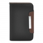 KALAIDENG Protective PU Leather Flip-Open Case for Samsung i9220 - Black