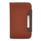 KALAIDENG Protective PU Leather Flip-Open Case for Samsung i9220 - Brown