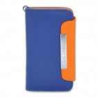KALAIDENG Protective PU Leather Flip-Open Case for iPhone 4 / 4S - Blue